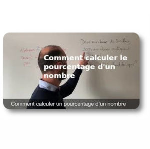 Comment calculer un pourcentage d'un nombre