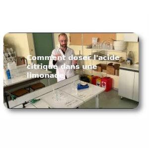 Comment doser l'acide citrique dans une limonade